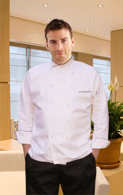 Egyptian Cotton Chef Coat-White
