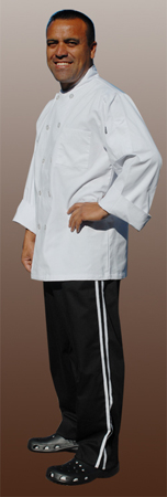 Baggy Chef Pant with white piping