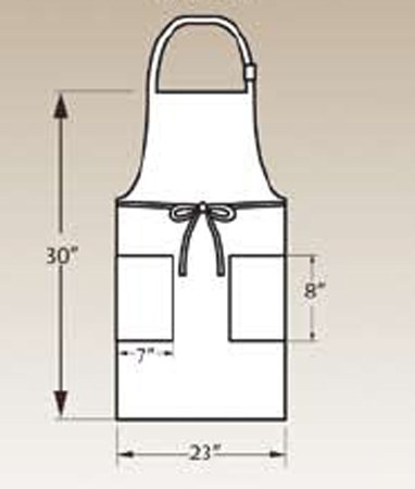 Adjustable Bib Apron, Two Pocket