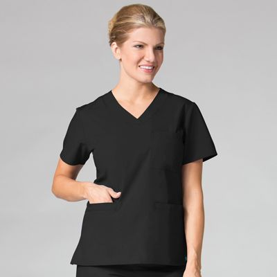 Curved V-Neck Top-Maevn