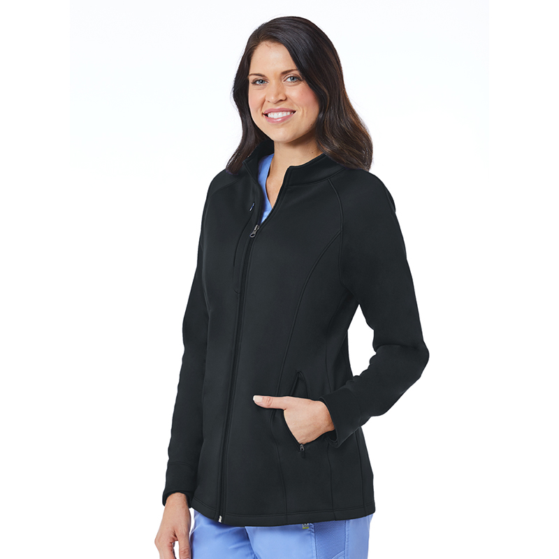 Womens Warm-up Bonded Fleece Jacket-Maevn