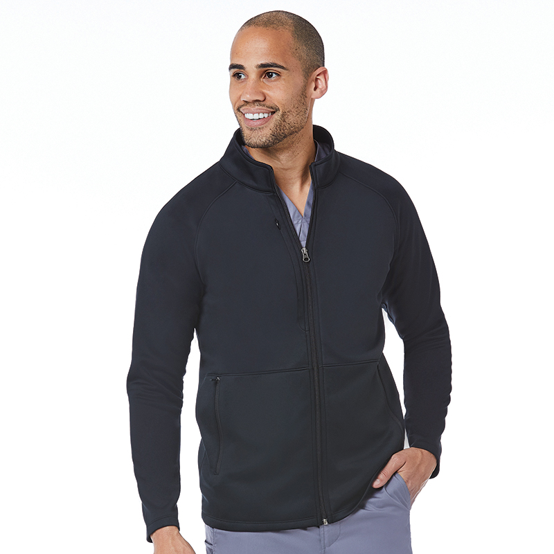 Men's Warm-Up Bonded Fleece Jacket-
