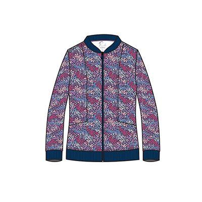 Zip Front Print Jacket-Maevn