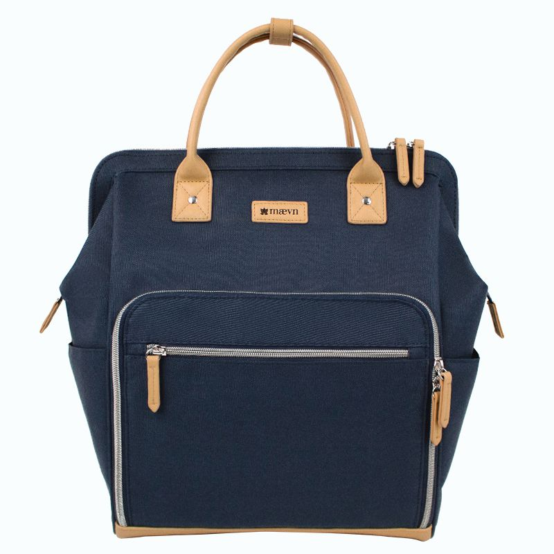 Clinical backpack with silver zipper-Maevn