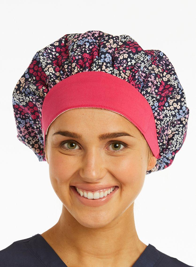 Ladies Bouffant Prints Scrub Hat-Maevn