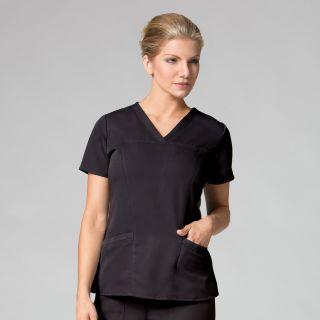 1203 Sporty V-Neck Top-