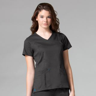 Pintuck Mock Wrap Top-