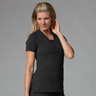 Pintuck V-Neck Top-Maevn