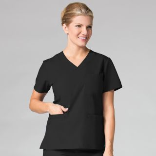 1626 Curved V-Neck Top