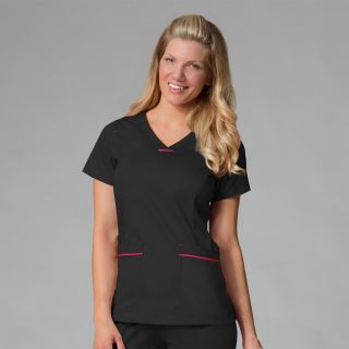 1702 Curved V-Neck Top