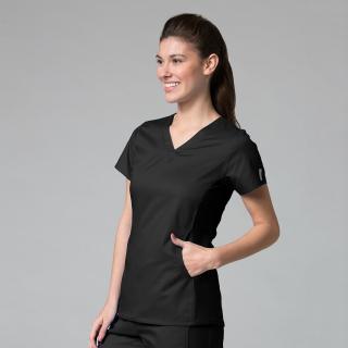 Maevn Eon Womens V-Neck Medical Scrub Top 1738 Back Mesh Panel Sizes XXS to 3XL