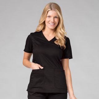 1802 Curved V-Neck Top-