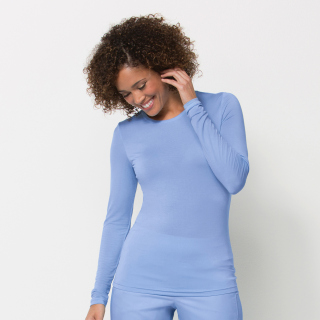 Ladies Long Sleeve Under Scrub Tee-Maevn