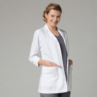 "Maevn Medical Red Panda Women's 3/4"" Sleeve Lab Coat-Maevn"