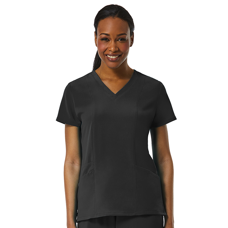 Ladies 3-Panels V-Neck Top-Maevn