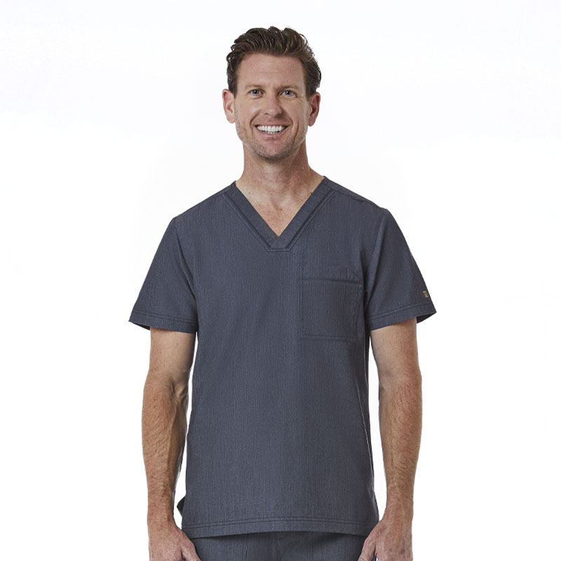 Mens Contrast Piping V-Neck Top-