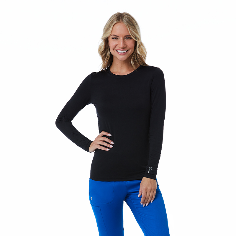 Womens Basic Long Sleeve Under-scrub Tee-Maevn