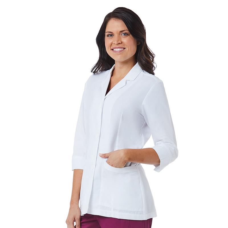 Women 3/4 Sleeve Lab Coat-Maevn