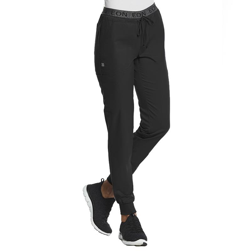 Sporty Full Elastic Logo Waist Jogger Pant-