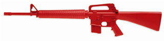 Government M16 Training Red Gun-
