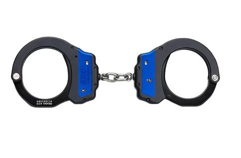 56006 Blue Line Chain Ultra Cuffs (Aluminum)-