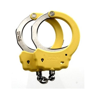 Steel Identifier Chain Handcuffs (Yellow)-