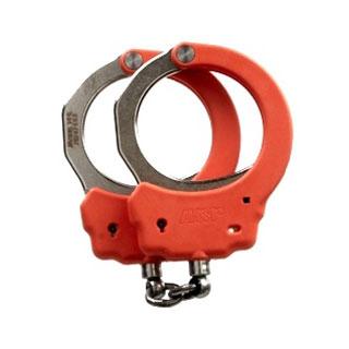 Steel Identifier Chain Handcuffs (Orange)-