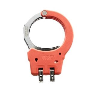 Steel Identifier Hinge Handcuffs (Orange)-