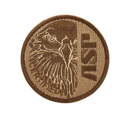 59112 ASP Eagle Certified Coyote Patches (Hook & Loop)-