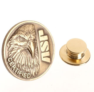 ASP Eagle Certified Lapel Pin-