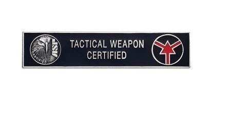 Uniform Bar (Tactical Weapon Certified) - Silver-