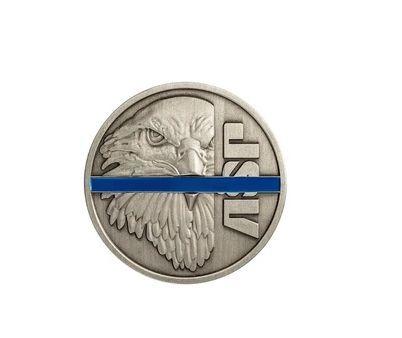 59303 Blue Line Challenge Coin-