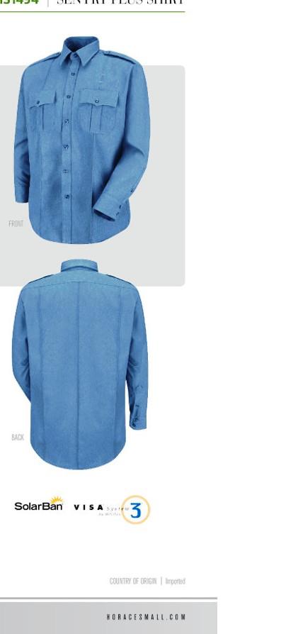 Ohio Sheriff LS shirt 100% polyester
