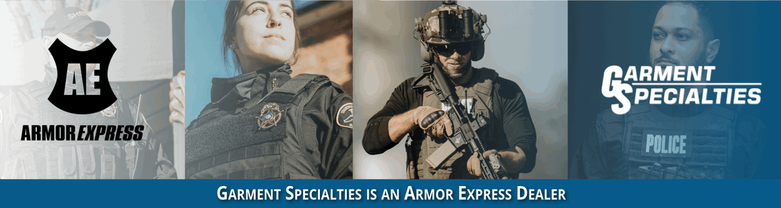 banner image of law enforcement officers in Armor Express body armor