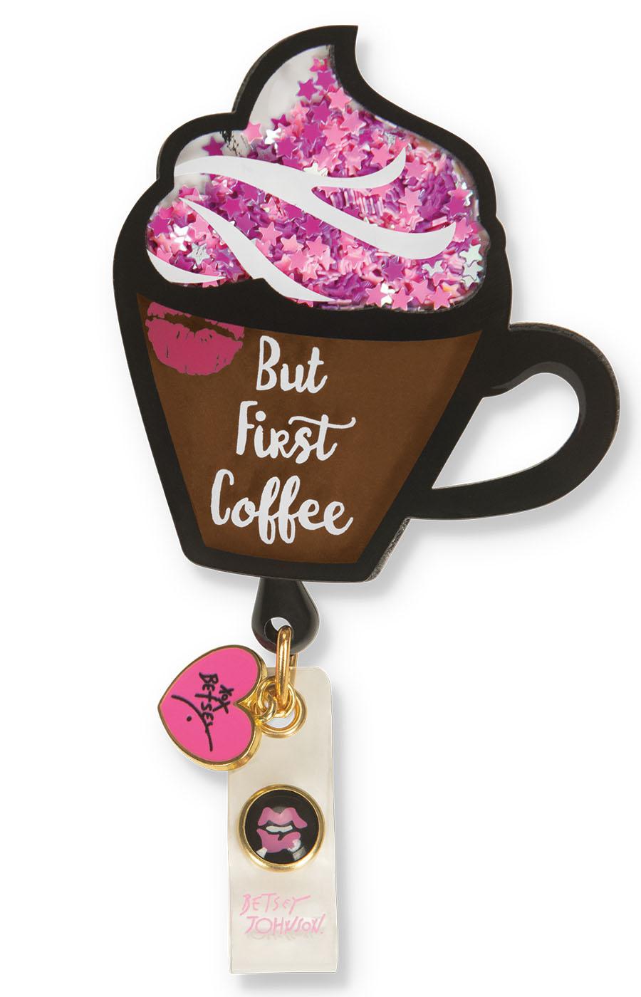 Koi Betsey Retractable Badges – Coffee-KOI