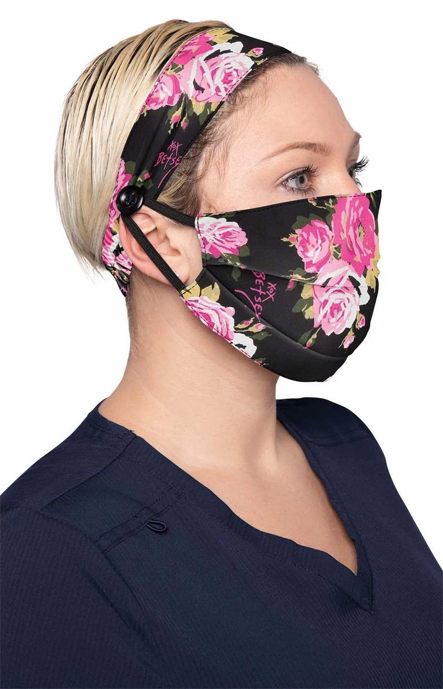 Fashion Mask + Headband Set Beautiful Rose-KOI
