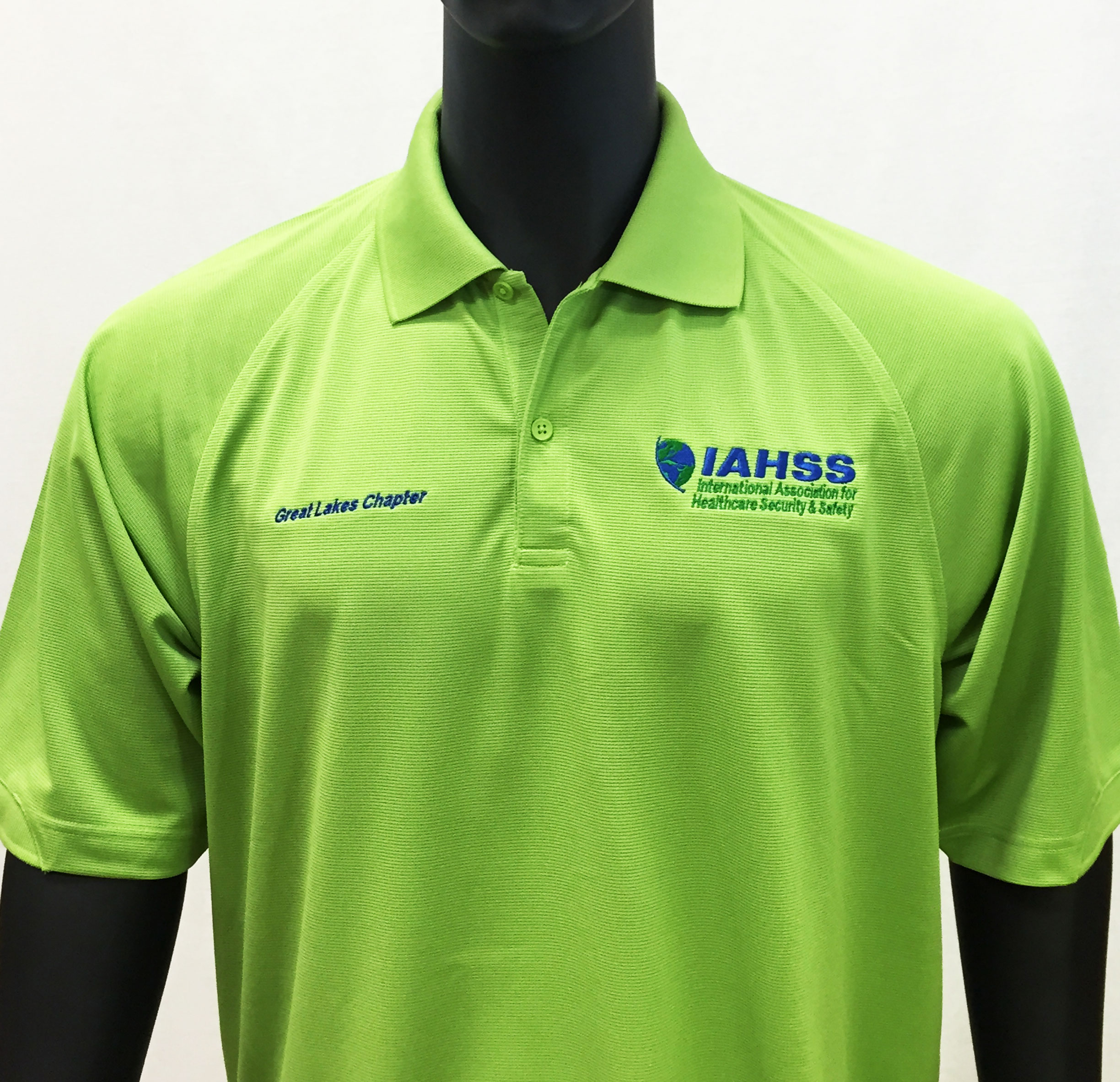 CPASK525 Men's Port Authority Dry Zone Ottoman Sport Shirt, Green Oasis with IAHSS Great Lakes Chapter Embroidery, XS-6X