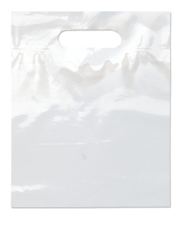 Die Cut Handle Bag-9 1/2 X 12-Flexo Ink Imprint