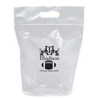 Zip Closure Die Cut Handle Bag-Flexo Ink Imprint