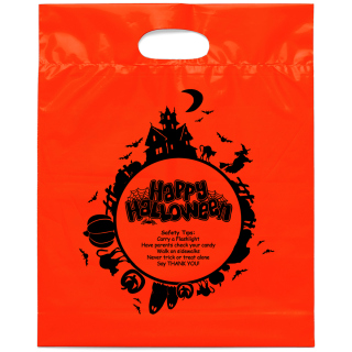Fright Night Die Cut Bag-Flexo Ink Imprint