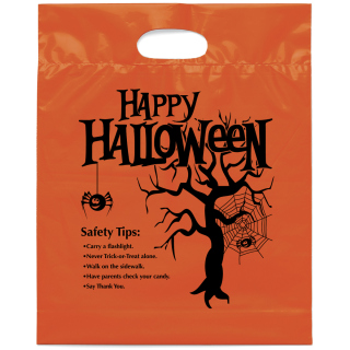 Happy Halloween Die Cut Bag-Flexo Ink Imprint