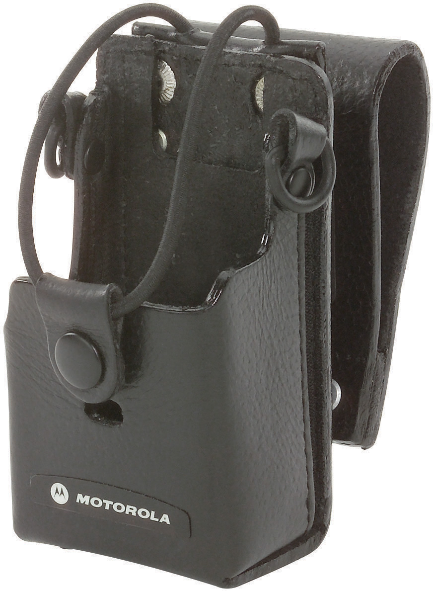 Hard Leather Carry Case-Motorola