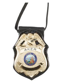 690 Badge Holder-Aker Leather
