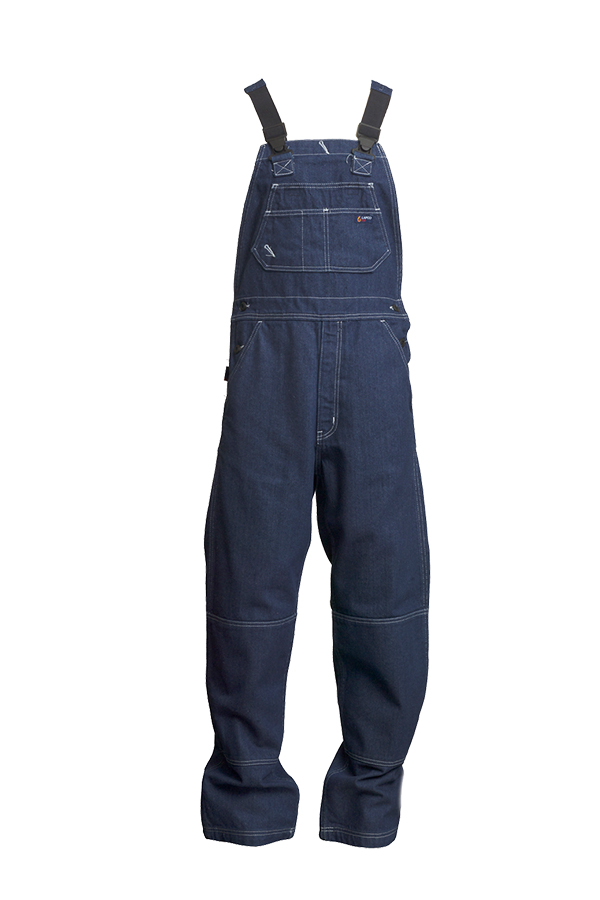 13oz. FR Denim Bib Overalls | 100% Cotton-Lapco