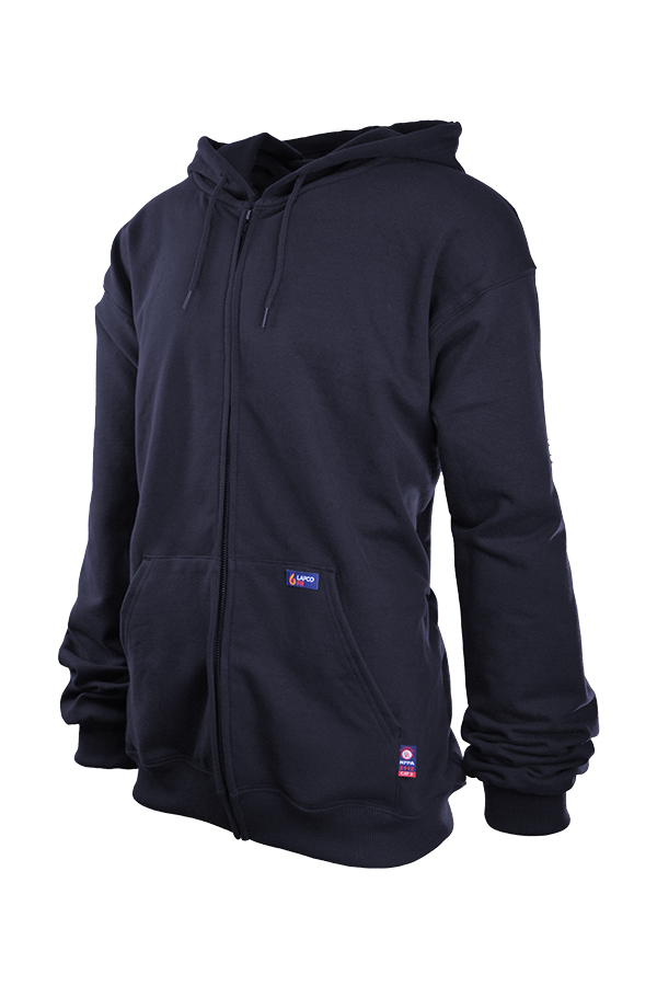 Lapco 12 oz. FR Full Zip Hoodies | 95/5 Cotton-Spandex Blend Fleece-LAPCO