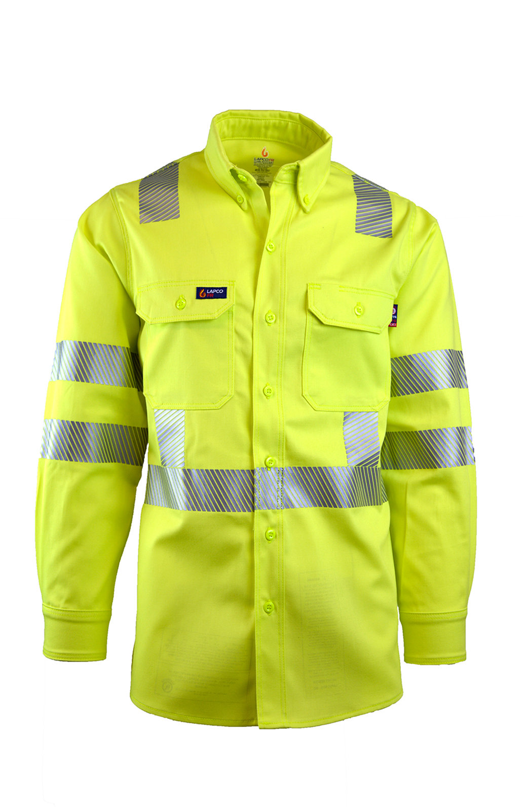 7oz. FR Hi-Viz Uniform Shirts | Class 3-Lapco