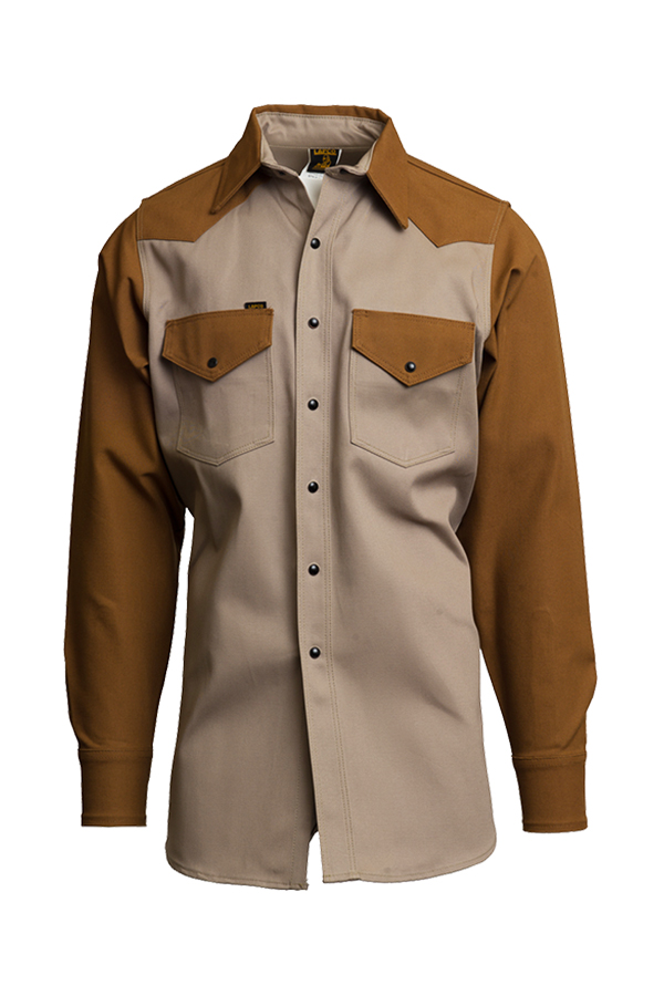 10oz. Heavy-Duty Two-Tone Welding Shirts | Non-FR | 100% Cotton