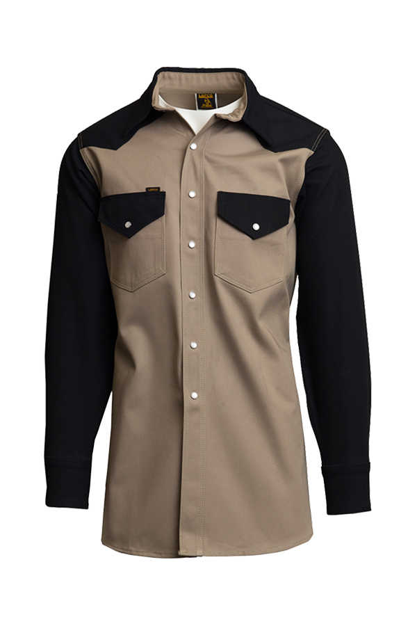 10oz. Heavy-Duty Two-Tone Welding Shirts | Non-FR | 100% Cotton-Lapco