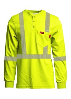 Hi-Viz Henleys | Inherent Blend | Class 2-Lapco