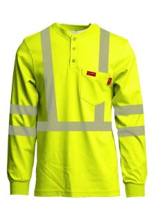 7oz. Hi-Viz Henleys | Inherent Blend | Class 3-Lapco